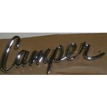 """Camper"" Script Door Emblem (Each)- 1969-72 Chevy/GMC Truck"