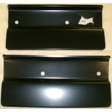 Rear Stepside Bumper Gravel Shields Bracket Covers (Pair) 1967-72 Chevy/GMC Truck