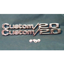 "1969-72 ""Custom 20"" Truck Fender Emblems (PAIR)"