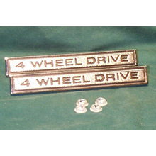 "1968-72 ""4 WHEEL DRIVE"" Truck Fender Emblems (PAIR)"