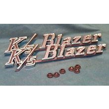 "1969-72 ""K/5 BLAZER"" Fender Emblems (PAIR)"
