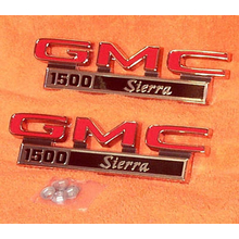 "1971-72 ""GMC 1500 Sierra"" Truck Fender Emblems (PAIR)"
