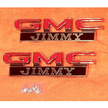 "1971-72 ""GMC JIMMY"" Fender Emblems (PAIR)"