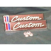 "1967-68 ""CUSTOM"" Truck Door Emblems (PAIR)"