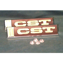 "1967-68 ""CST"" Truck Door Emblems (PAIR)"