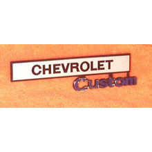 "1969-72 ""Chevrolet Custom"" Truck Glove Box Emblem"