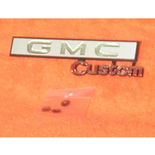 "1969-72 ""GMC Custom"" Truck Glove Box Emblem"