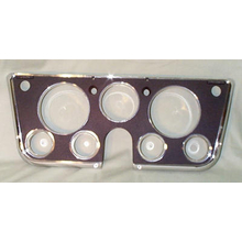 1969-72 Dash Bezel Black/Chrome w/ Gauges