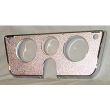 1969-72 Dash Bezel All Chrome W/ Warning Lights (No Bottem Gauges)