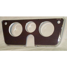 1969-72 Dash Bezel Black/Chrome W/ Warning Lights (No Bottem Gauges)