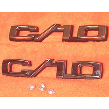 "1969-70 ""C/10"" Truck Fender Emblems (Pair)"