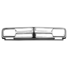 1971-1972 GMC Truck Chrome Grill w/ Black Painted Detail (Reproduction)