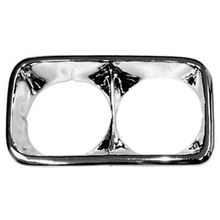 1967-1972 GMC Truck Chrome Headlight Bezels (PAIR)
